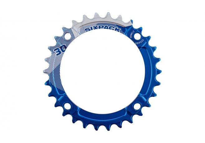 Plateau SIXPACK K-Ring Narrow-Wide 12V (104 BCD) Bleu